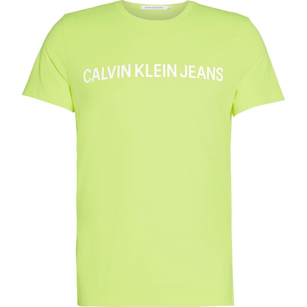 Calvin Klein Jeans Institutional Logo Slim Tee L Safety Yellow