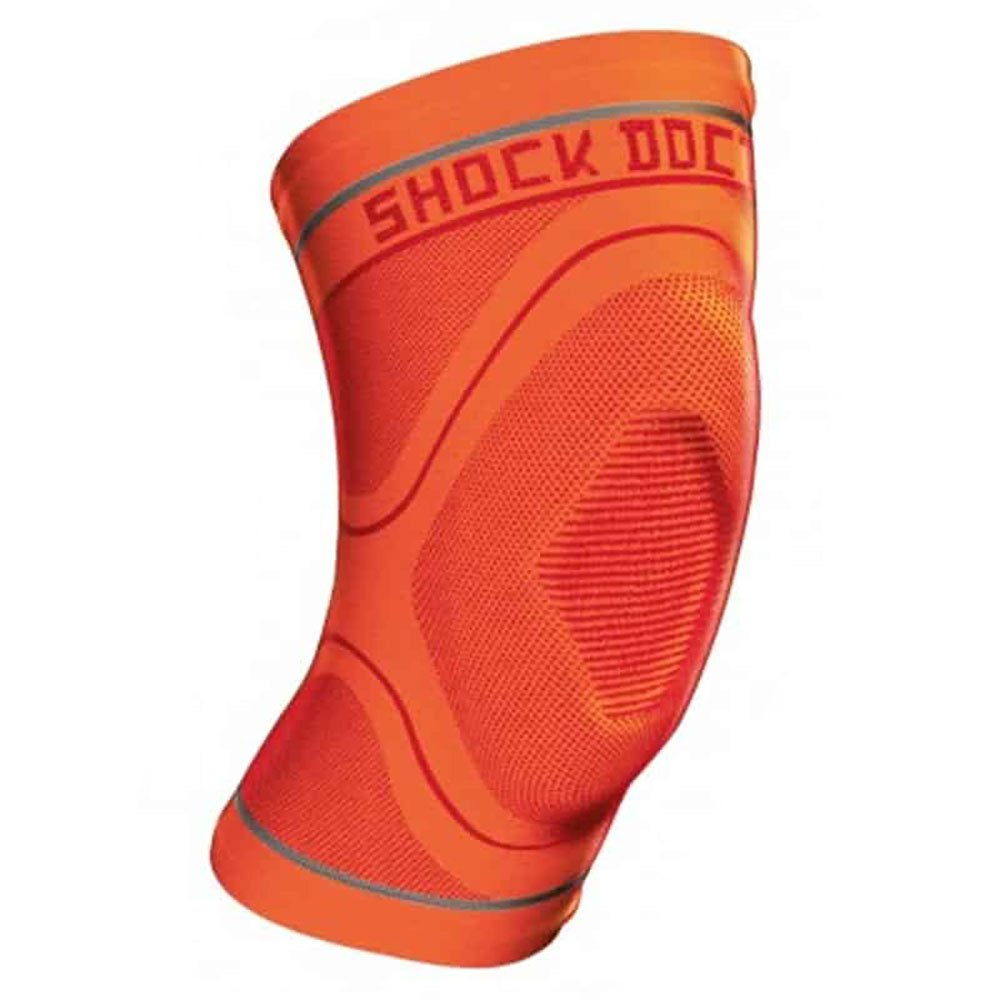 Shock Doctor Compression Knit Knee Sleeve With Gel L Orange