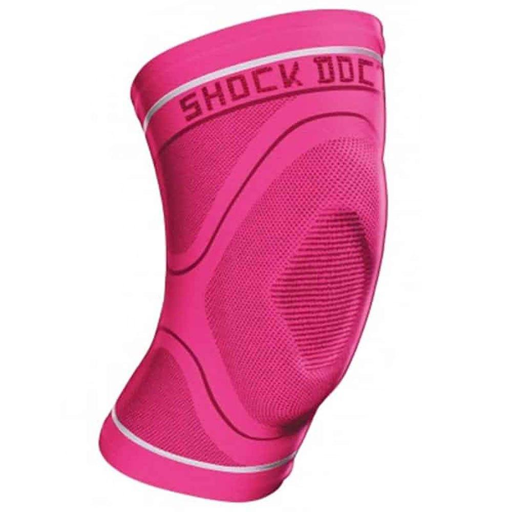 Shock Doctor Compression Knit Knee Sleeve With Gel L Pink