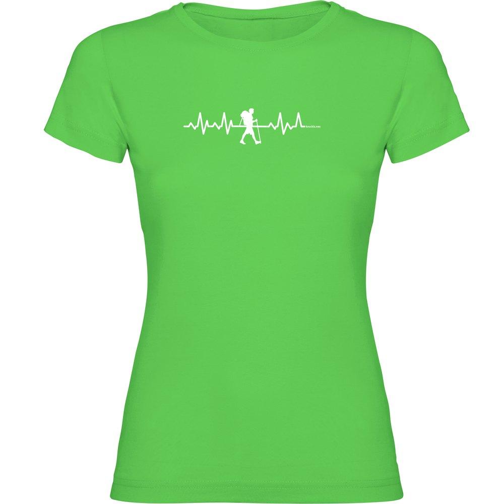 Kruskis Trekking Heartbeat Short Sleeve T-shirt Short Sleeve T-shirt L Light Green