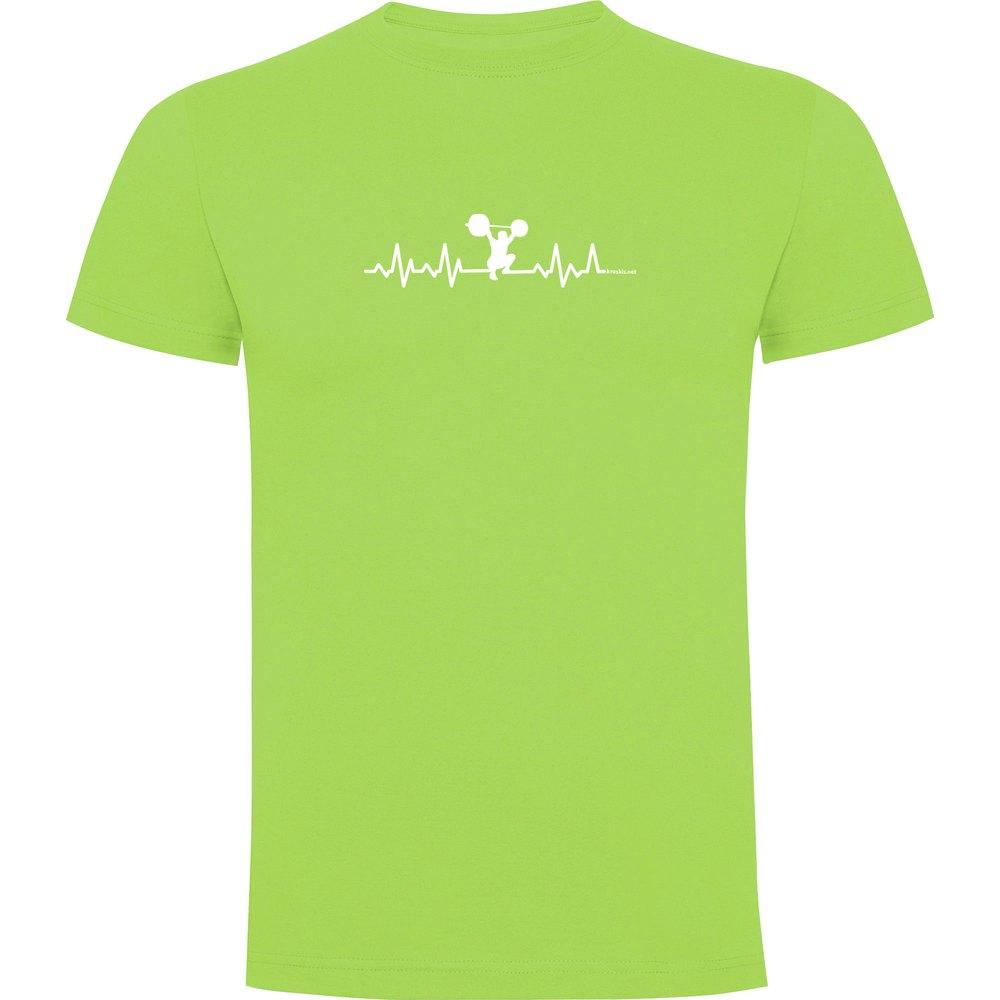 Kruskis T-shirt Manche Courte Fitness Heartbeat Short Sleeve T-shirt S Light Green
