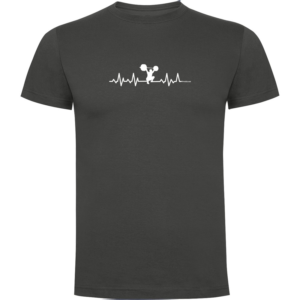 Kruskis T-shirt Manche Courte Fitness Heartbeat Short Sleeve T-shirt S Dark Grey