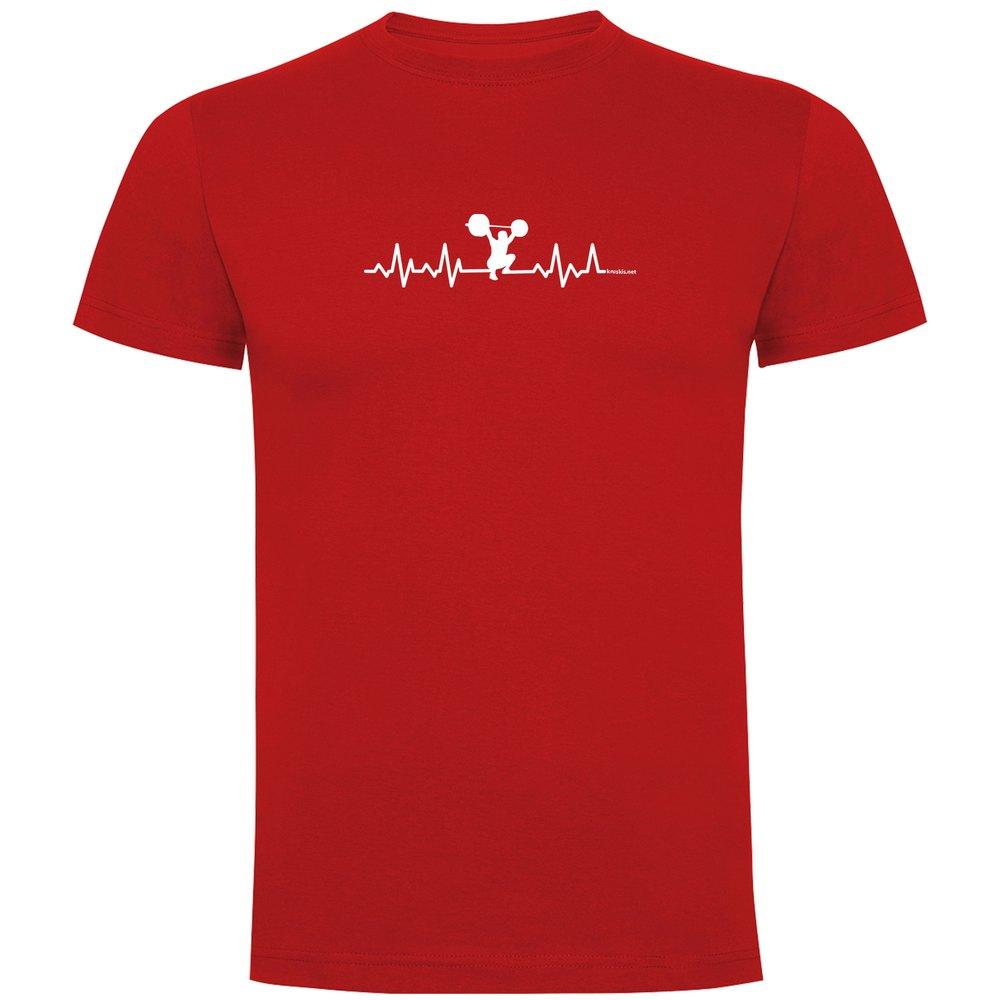 Kruskis T-shirt Manche Courte Fitness Heartbeat Short Sleeve T-shirt S Red