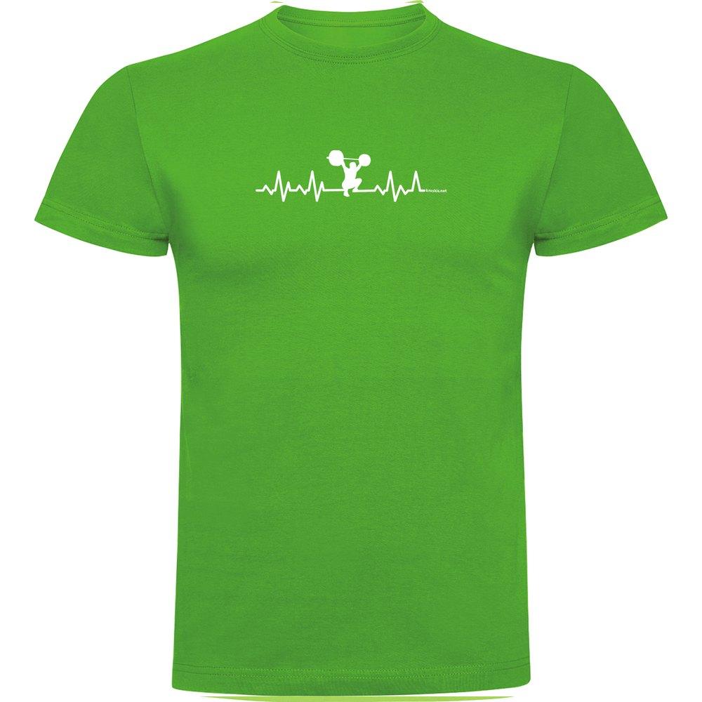 Kruskis T-shirt Manche Courte Fitness Heartbeat Short Sleeve T-shirt S Green