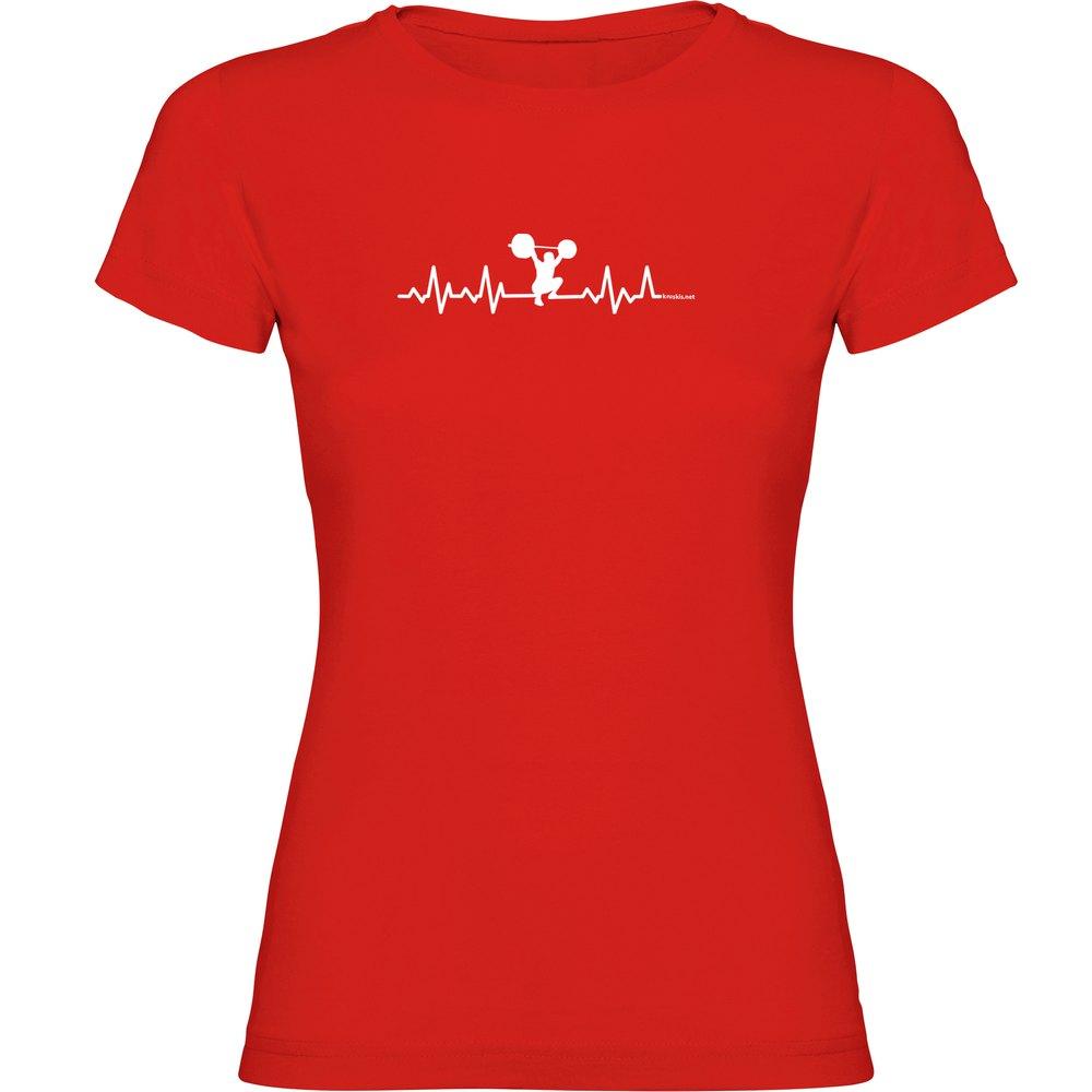 Kruskis T-shirt Manche Courte Fitness Heartbeat Short Sleeve T-shirt L Red