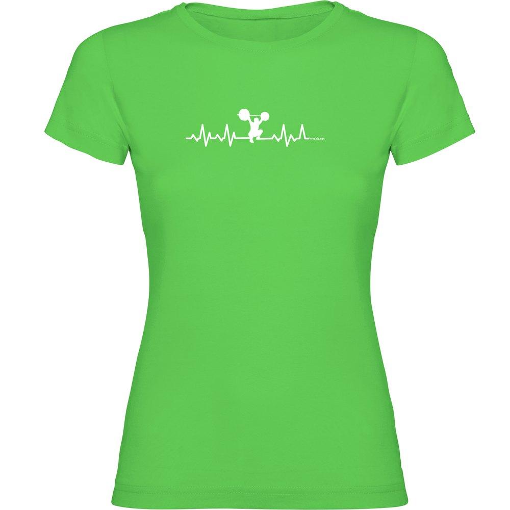 Kruskis T-shirt Manche Courte Fitness Heartbeat Short Sleeve T-shirt L Light Green