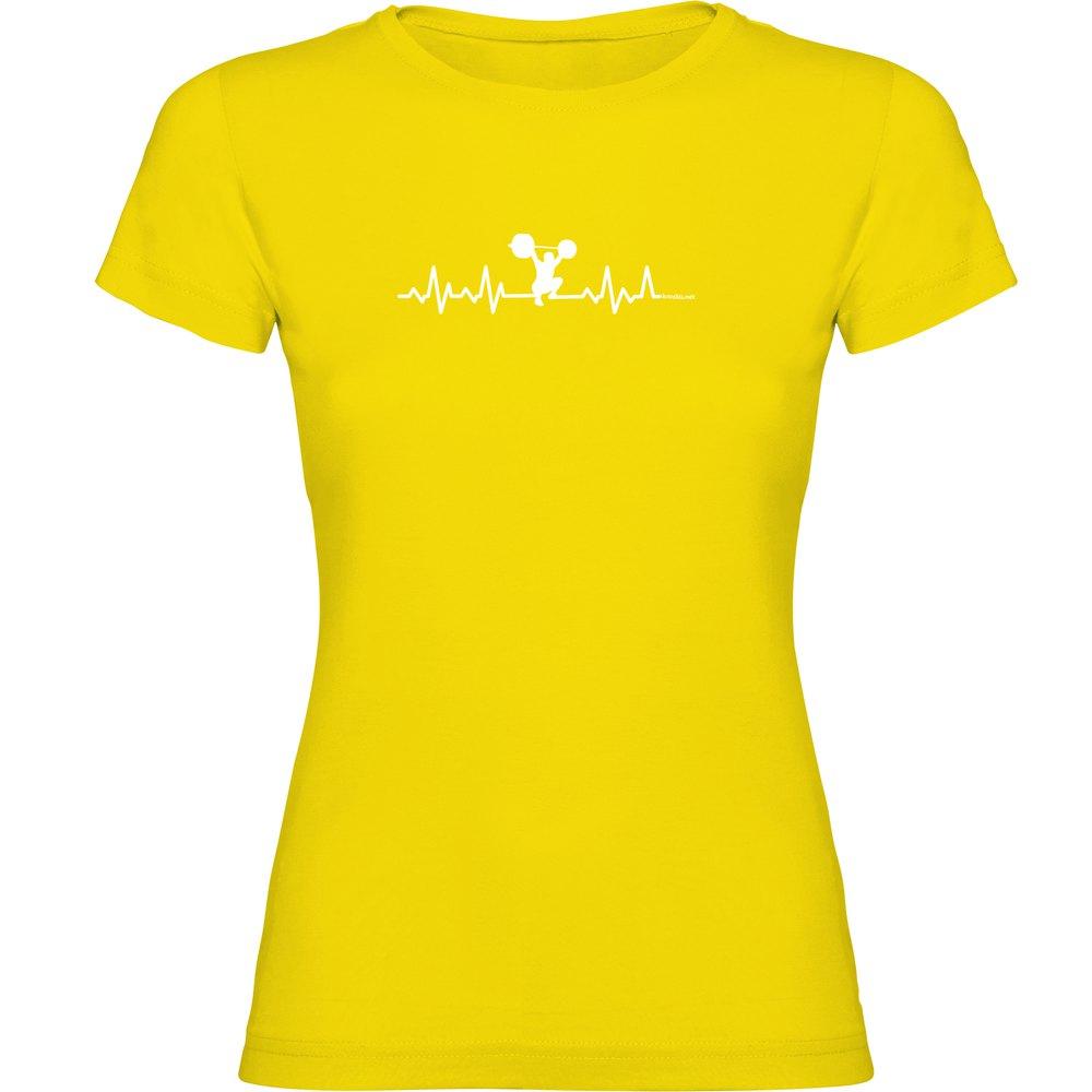 Kruskis T-shirt Manche Courte Fitness Heartbeat Short Sleeve T-shirt L Yellow