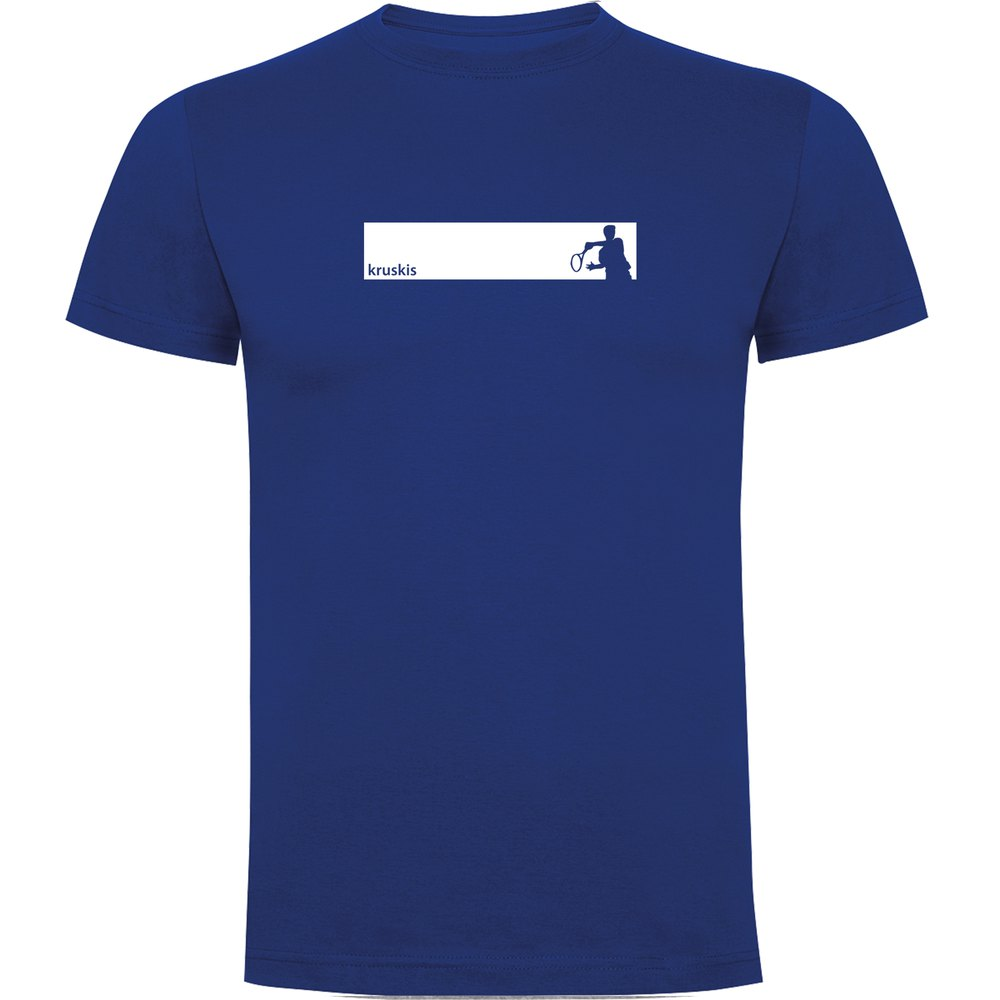 Kruskis T-shirt Manche Courte Tennis Frame Short Sleeve T-shirt S Royal Blue