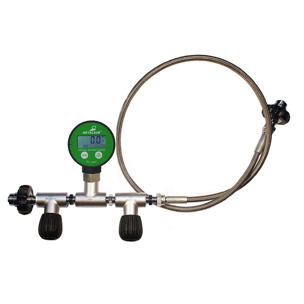 Metalsub Oxygen Equalizer Din 200/300 With Flow Control Digital Pg 1 m Steel Tank Equalizers Oxygen Equalizer Din 200/300 With Flow Control Digital Pg