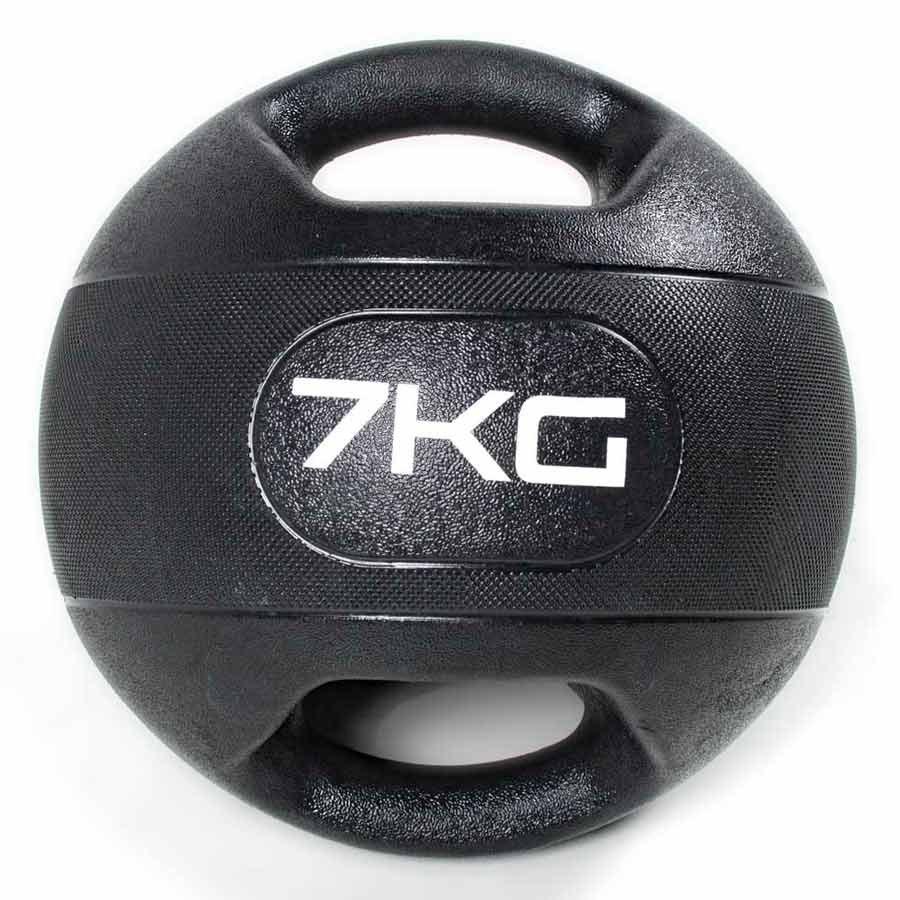 Olive Dual Grip Medicine Ball 7 Kg 7 Kg Black
