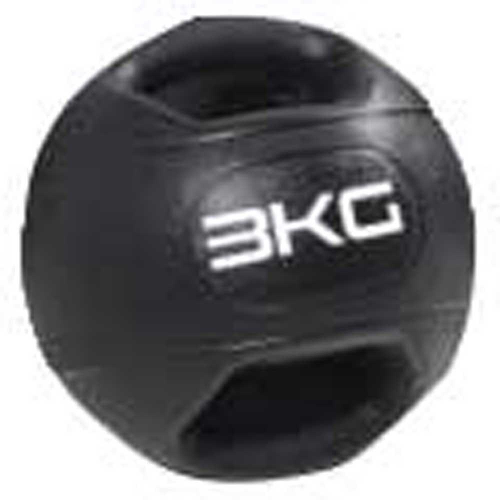 Olive Dual Grip Medicine Ball 3 Kg 3 Kg Black