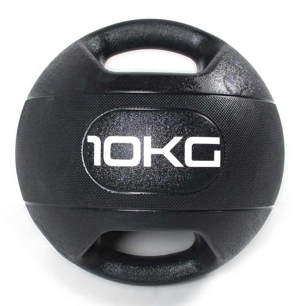 Olive Dual Grip Medicine Ball 10 Kg 10 Kg Black