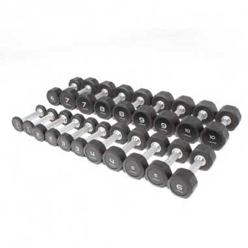 Olive Rubber Pro Style Kit 1 To 10 Kg Pair 1 to 10 kg Black