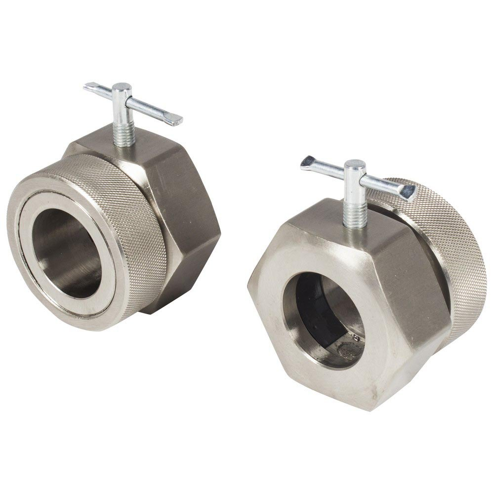 Olive Competition Collars Pair 50 mm Chrome