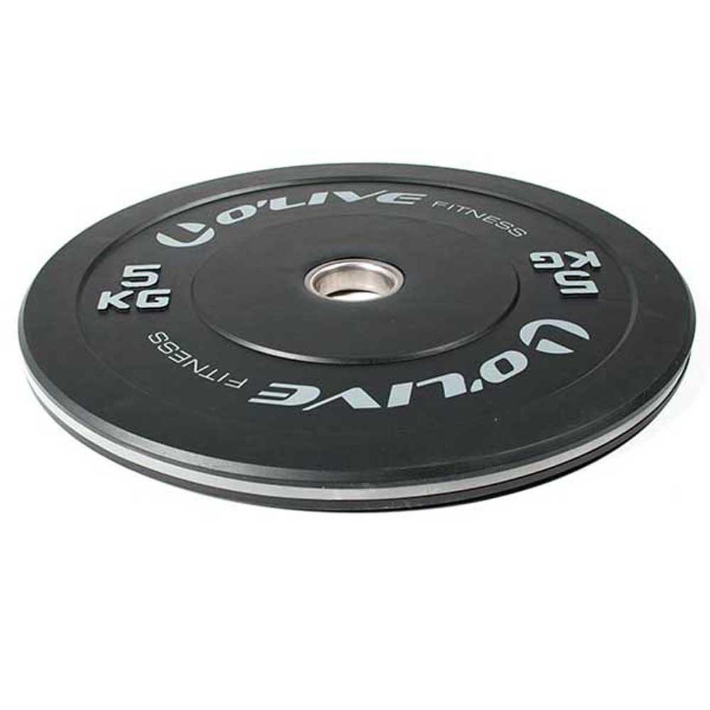 Olive Olympic Bumper Discs 5 Kg 5 kg Black