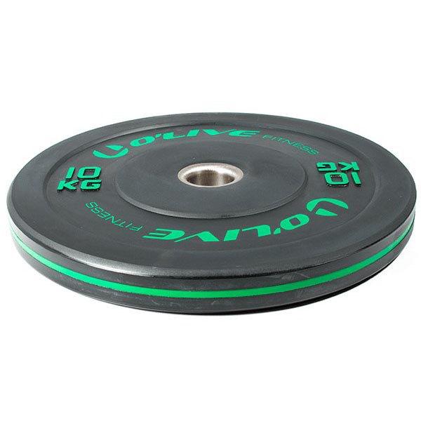 Olive Olympic Bumper Discs 10 Kg 10 kg Black