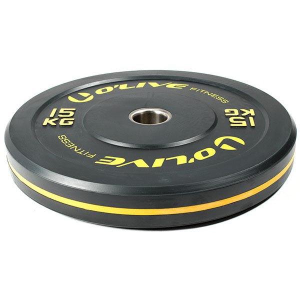 Olive Olympic Bumper Discs 15 Kg 15 kg Black