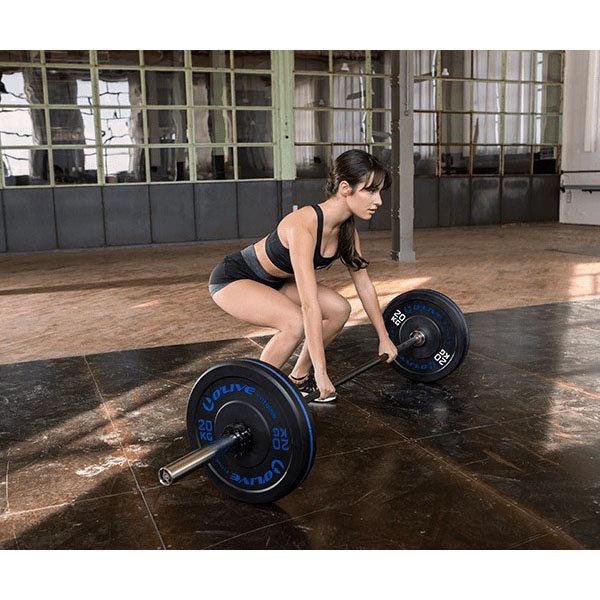 Olive Olympic Bumper Disc 20 Kg 20 kg Black