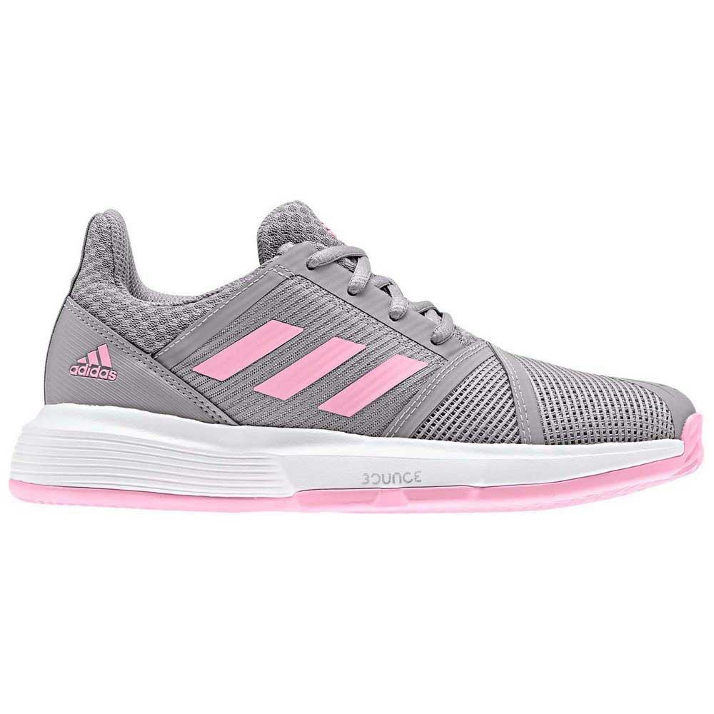 Adidas Courtjam Xj EU 19 Light Granite / True Pink / Ftwr White