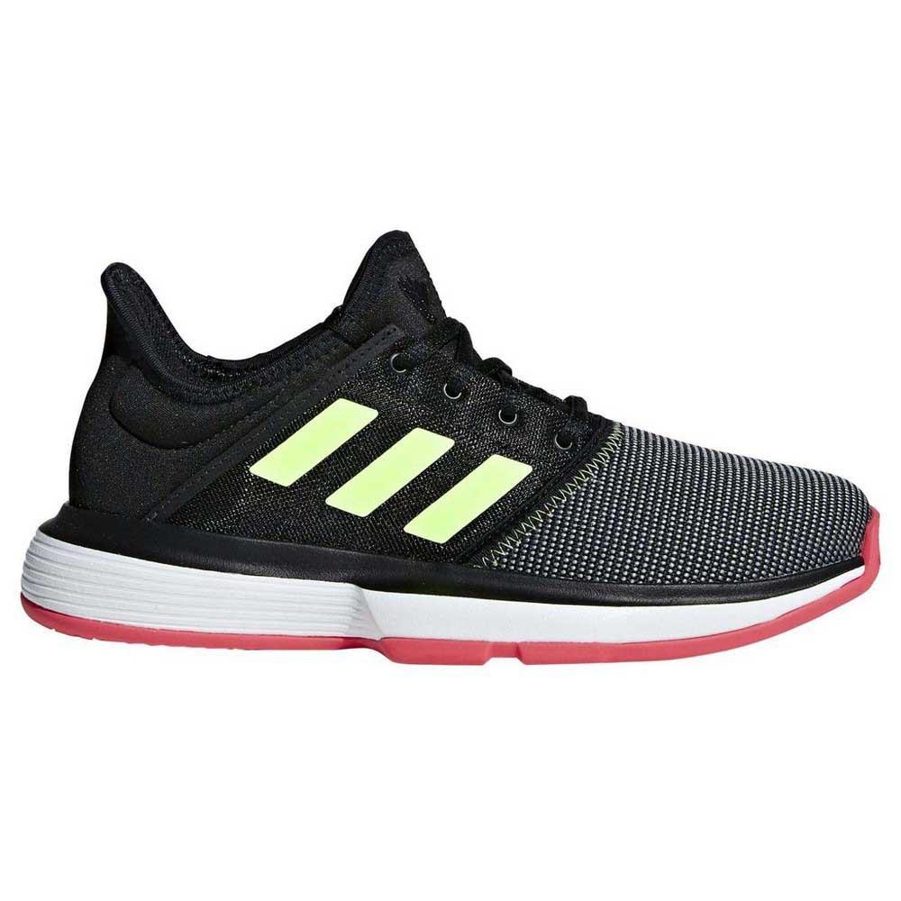 Adidas Solecourt Xj EU 19 Core Black / Ftwr White / Shock Red
