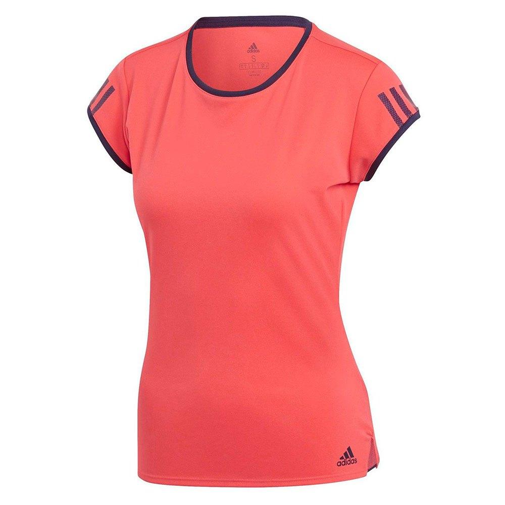 Adidas T-shirt Manche Courte Club 3 Stripes XS Shock Red