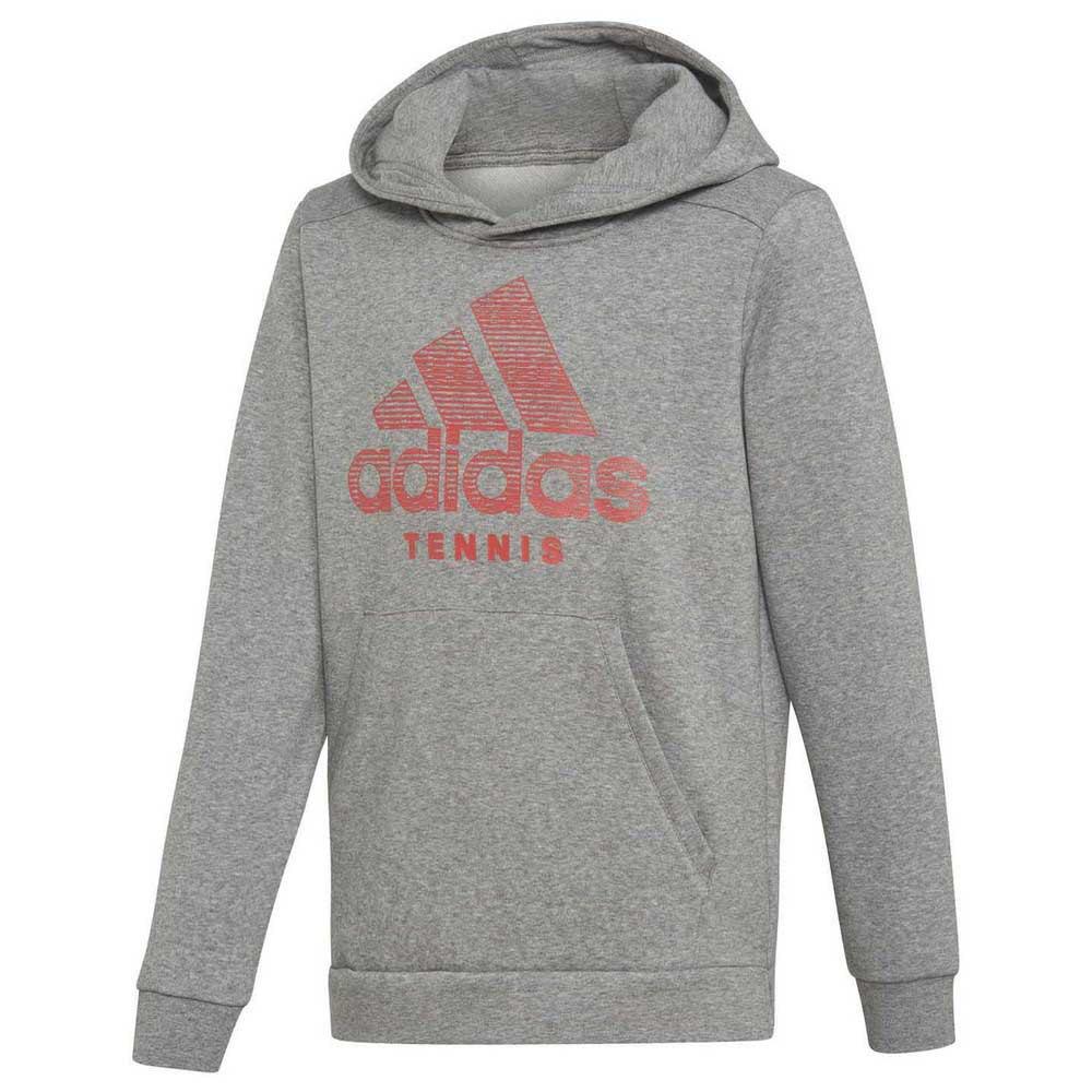Adidas Sweat À Capuche Club 164 cm Core Heather / Shock Red