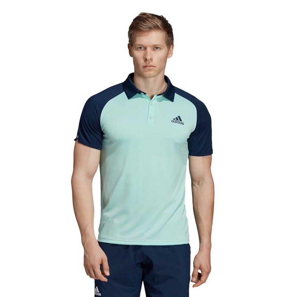 Adidas Polo Manche Courte Club Colorblock S Clear Mint / Collegiate Navy