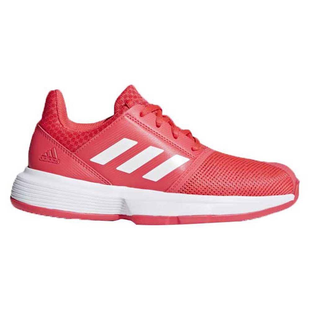 Adidas Courtjam Xj EU 19 Shock Red / Cloud White / Matte Silver