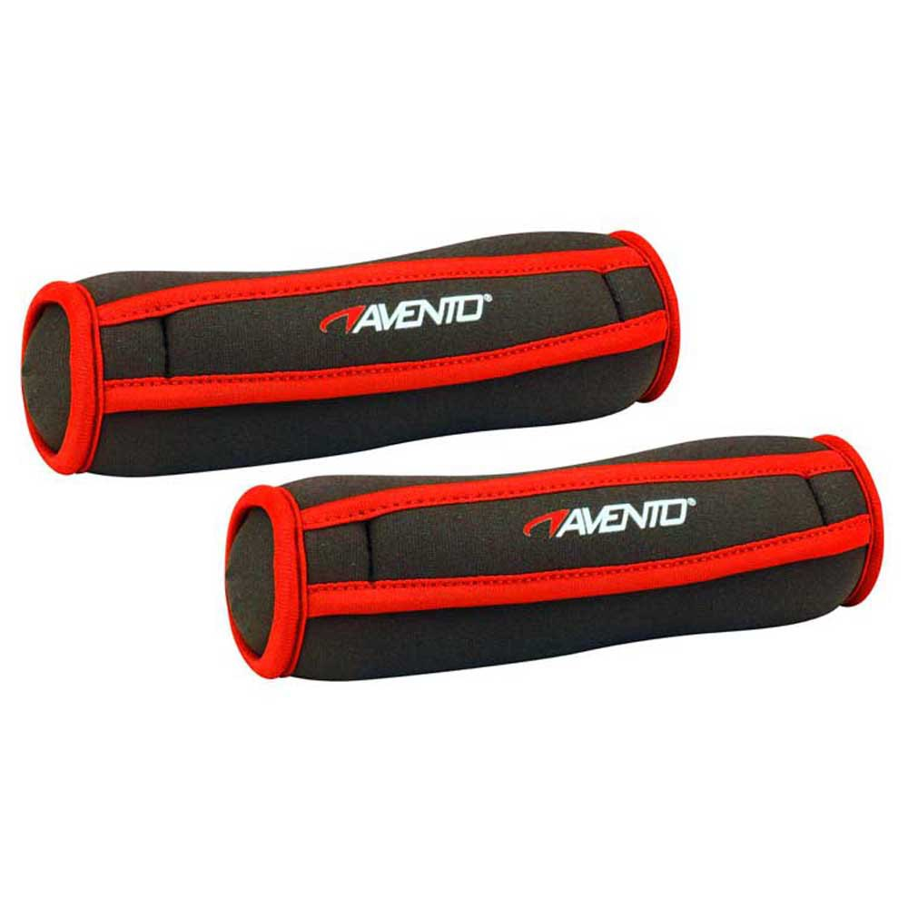 Avento Soft Neoprene Dumbbell 500gr 2 Units One Size Black / Red