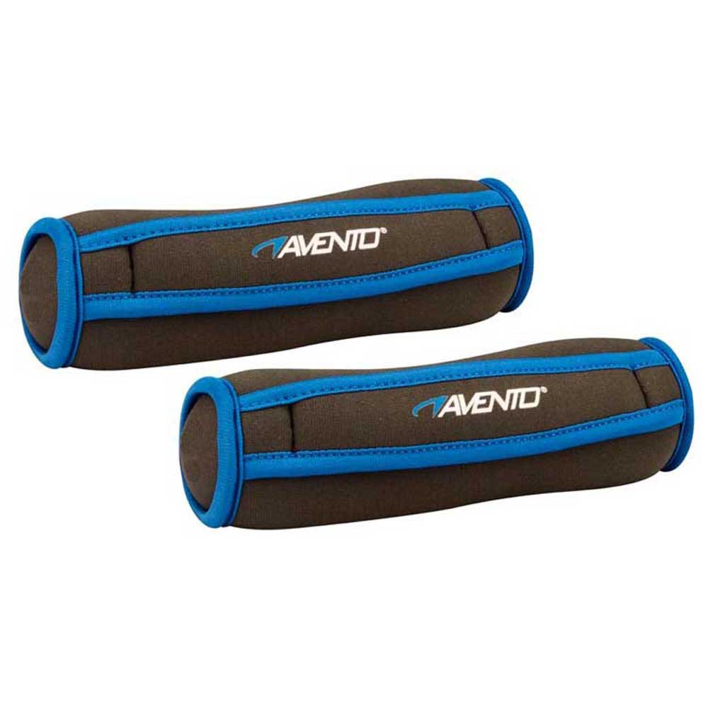Avento Soft Neoprene Dumbbell 1 Kg 2 Units One Size Black / Blue