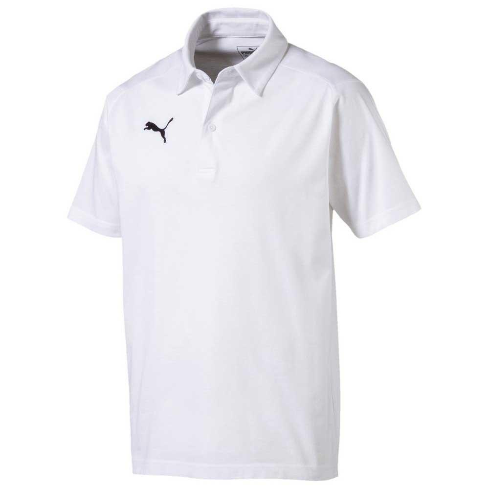 Puma Polo Manche Courte Liga Casuals L White /Black
