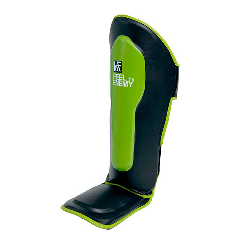 Krf Shin Guard With High Foot M Black / Green