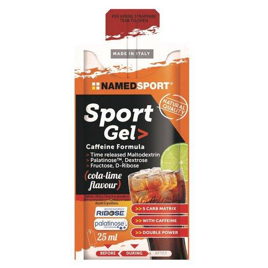 Named Sport Sport Gel Caffeine 25ml X 15 Gels Cola / Lime Cola / Lime