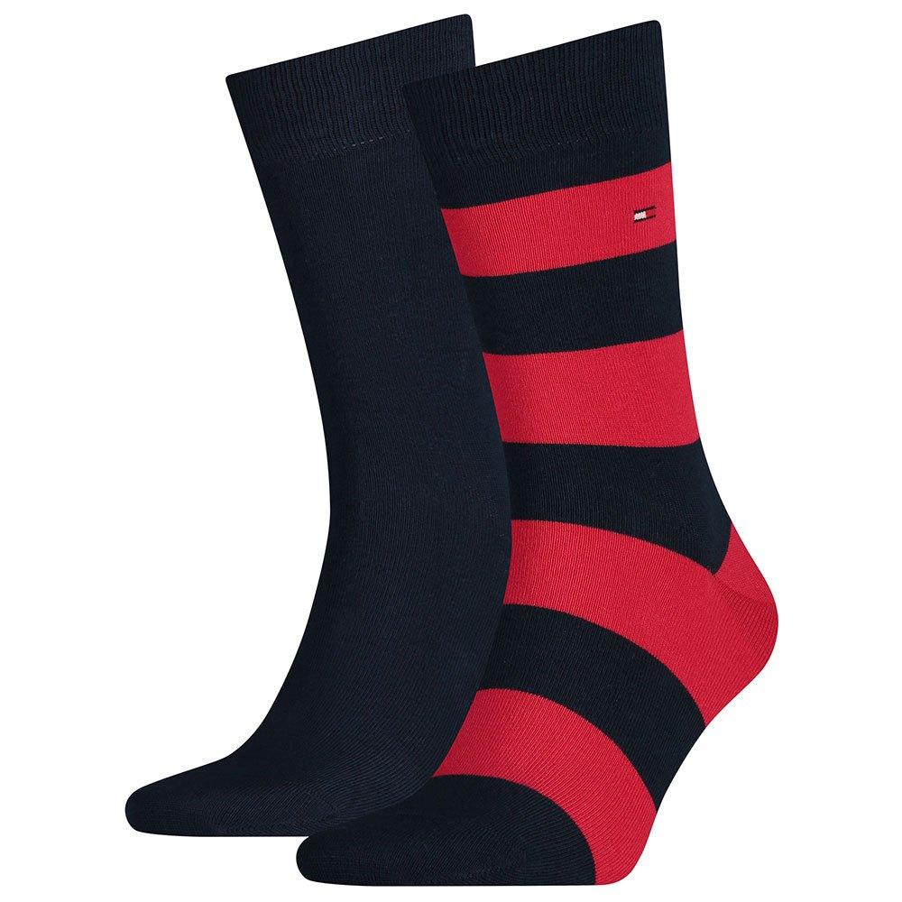 ,Gray ,43//46 Tommy Hilfiger TH Men Iconic Sports Quarter Socks Pack of 2 Tommy Original