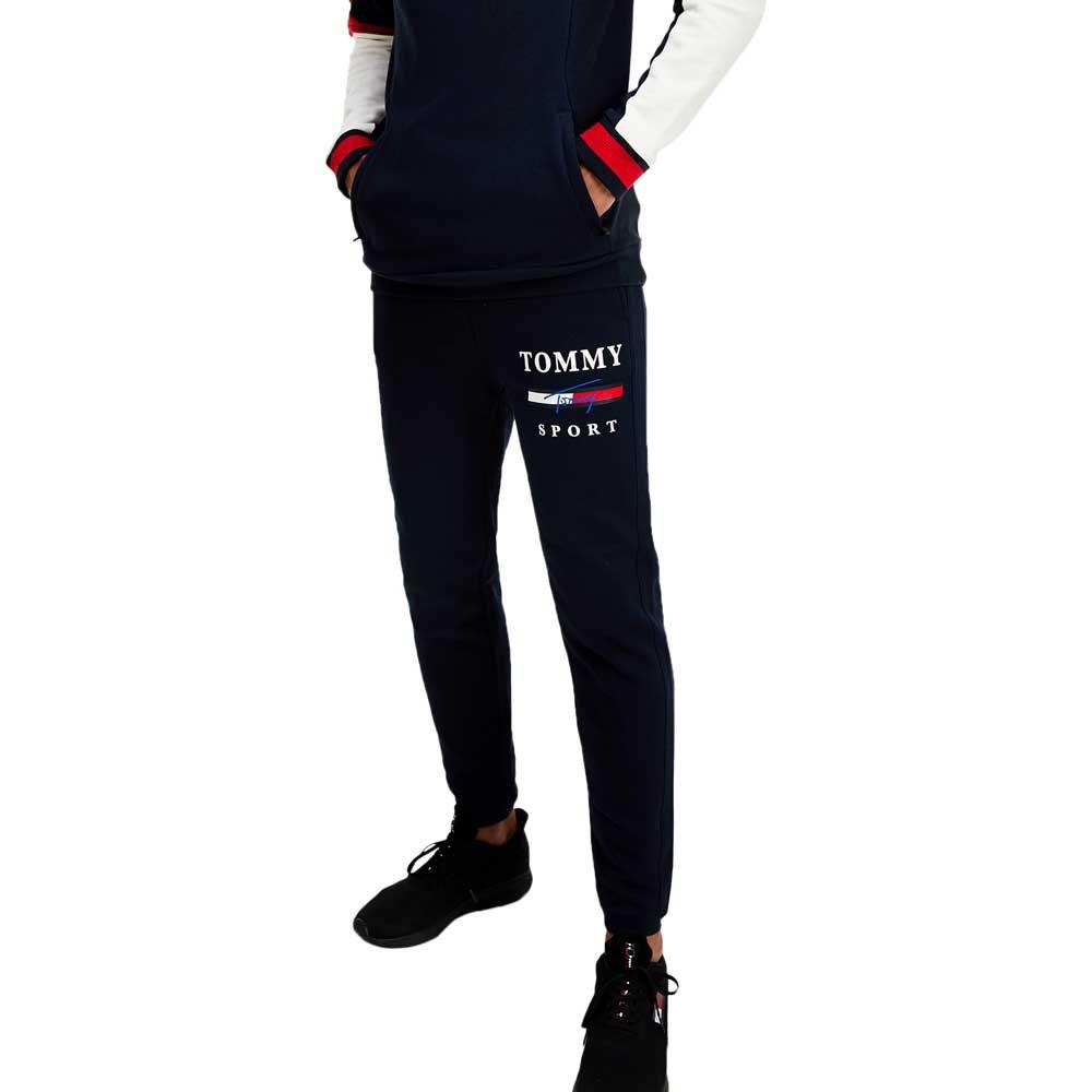 Tommy Hilfiger Sportswear Graphic Fleece Pant Cuffed L Desert Sky