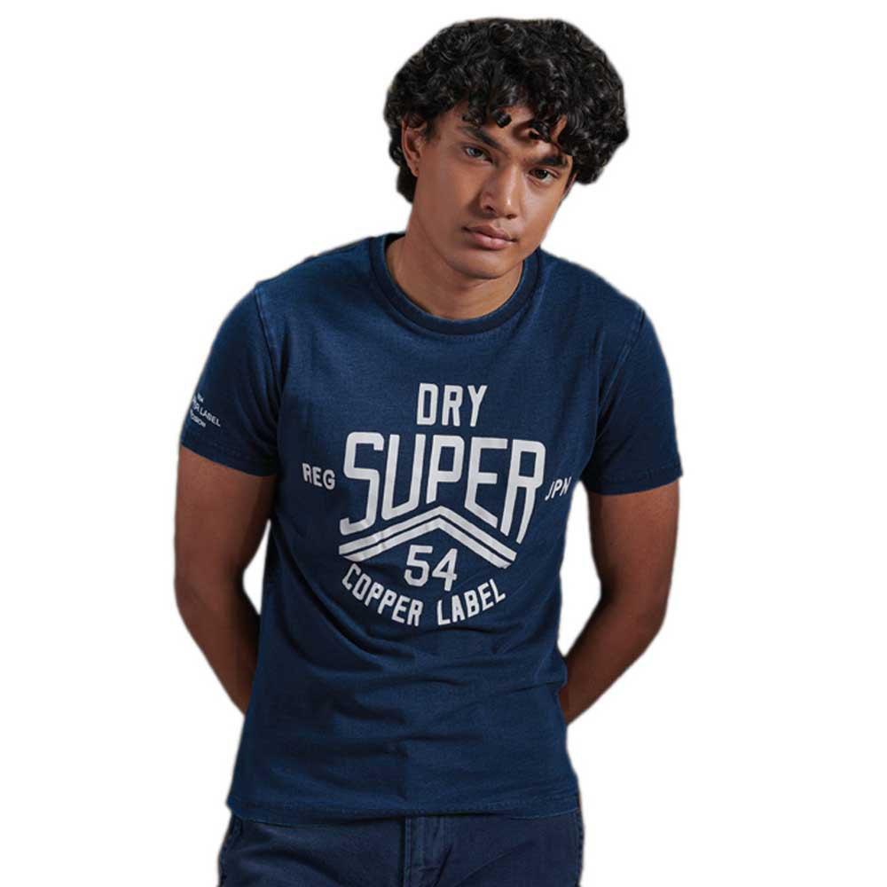 Superdry Cooper Label L Heritage Washed Blue