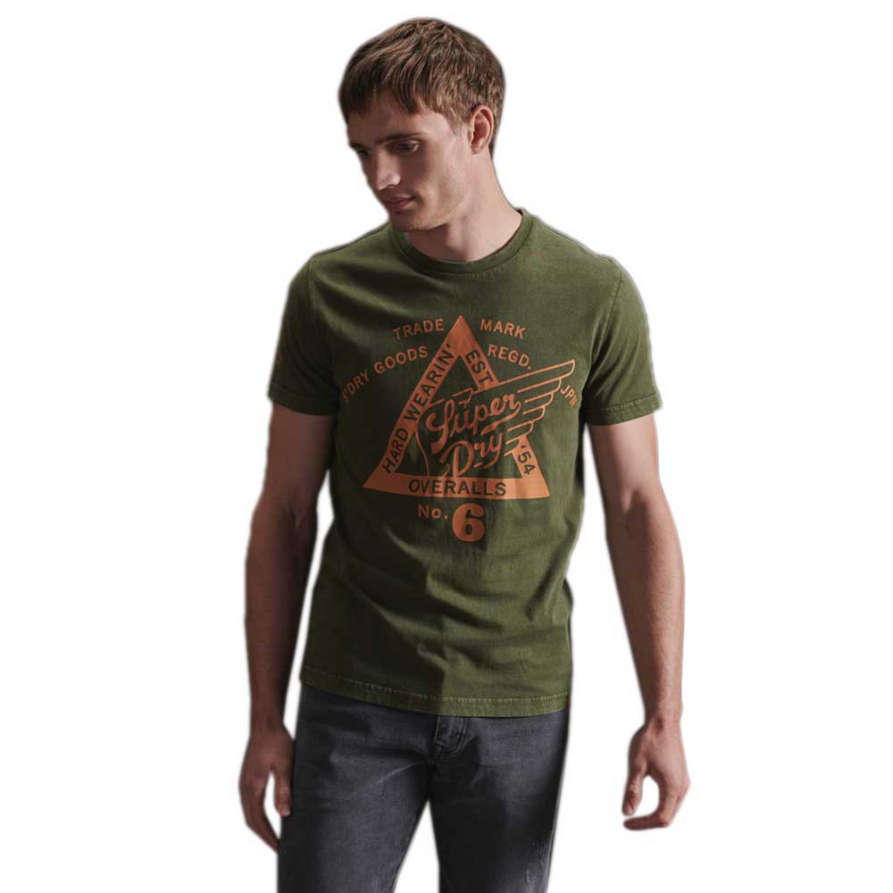 Superdry Cooper Label M Drab Overall Green