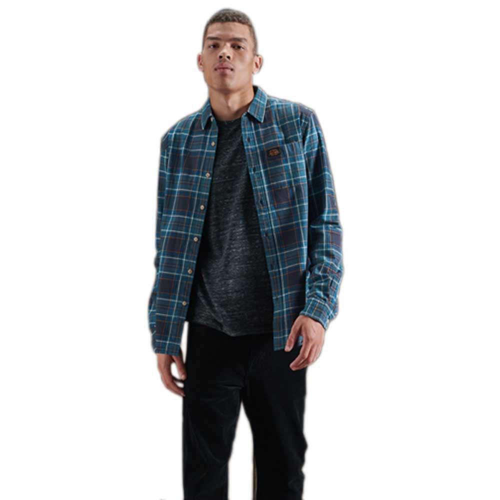 Superdry Workwear XXXL Teal Check
