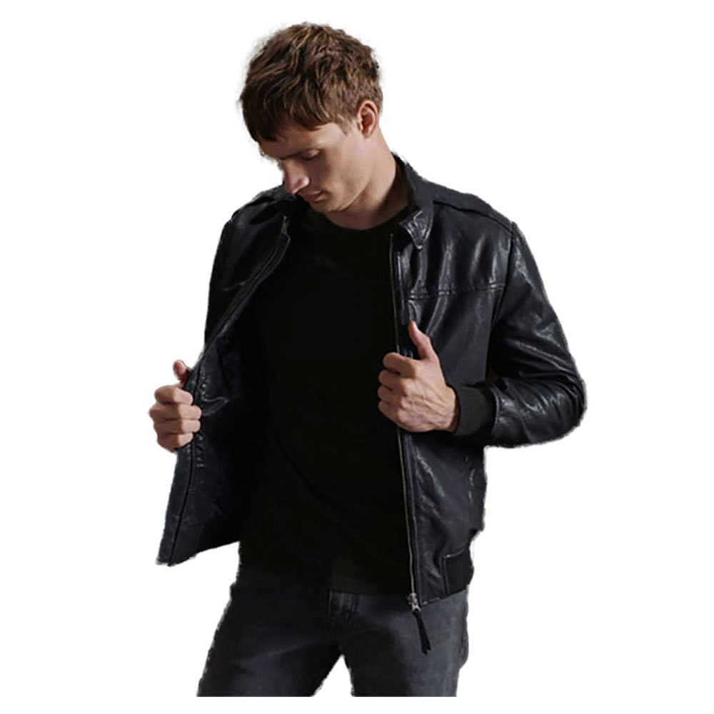 Superdry Aviator Leather XXXL Black