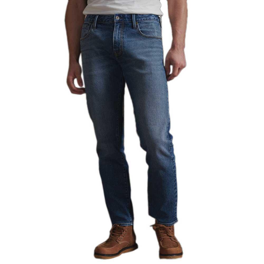 Superdry Tailored Straight 30 Boyce Worn Blue