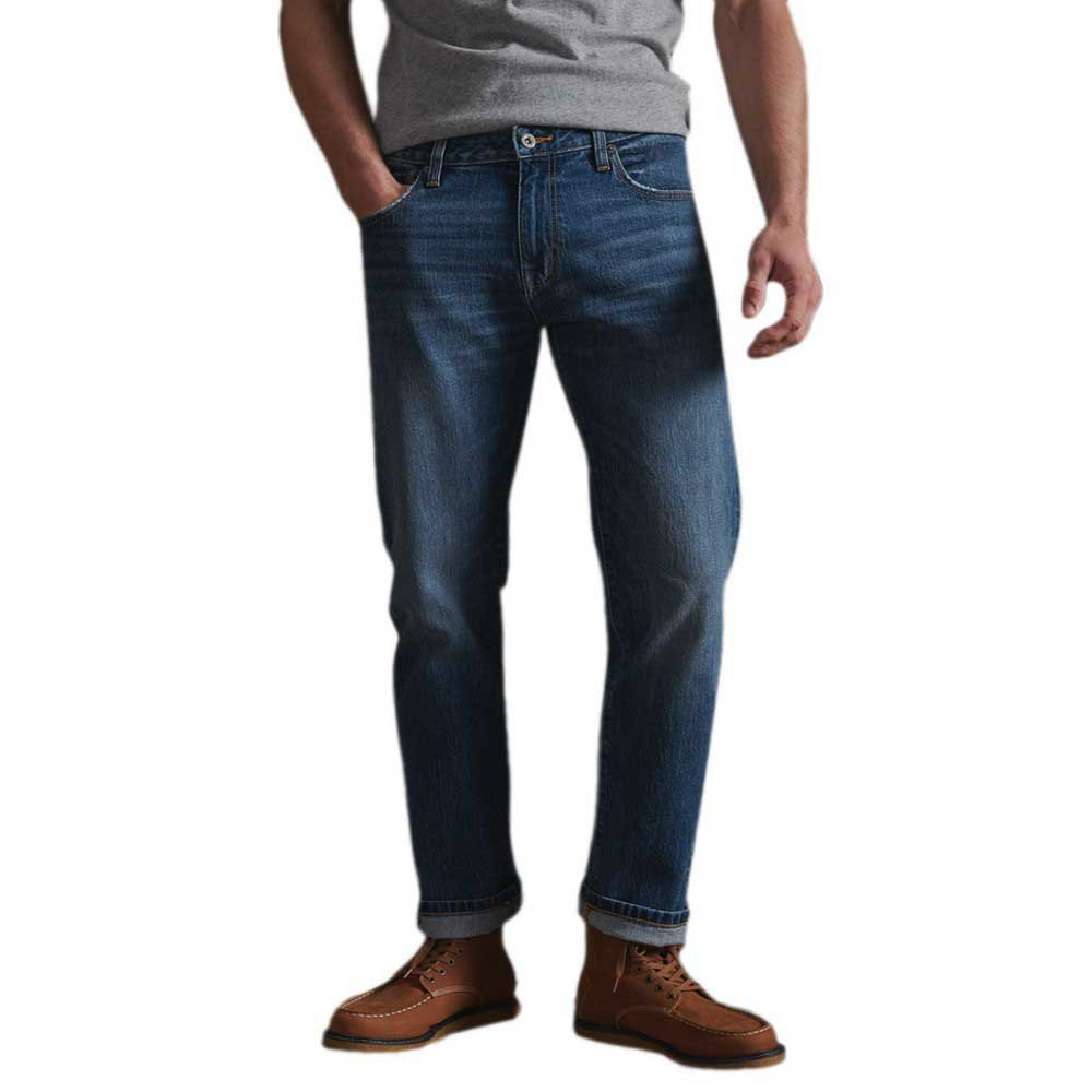 Superdry Tailored Straight 36 Tompkins Mid Blue