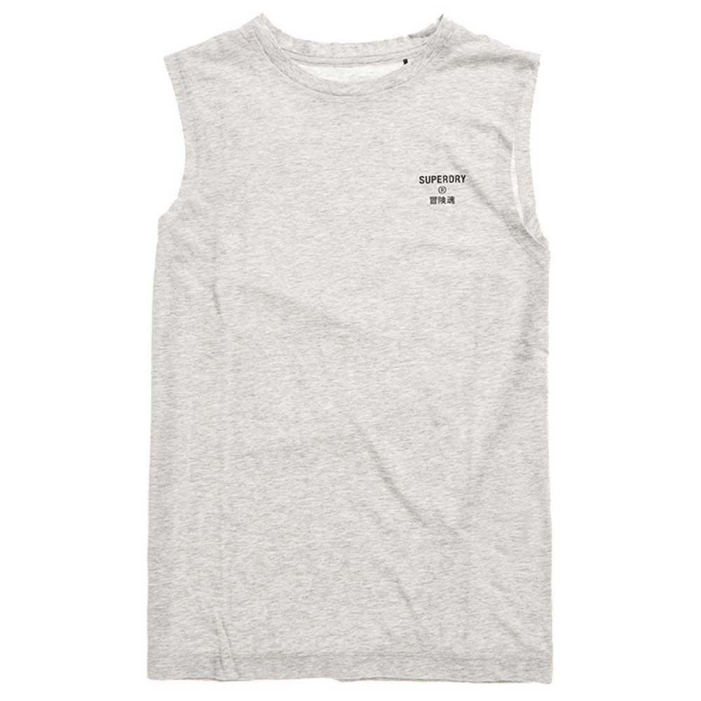 Superdry T-shirt Sans Manches Core Sport L Grey Marl