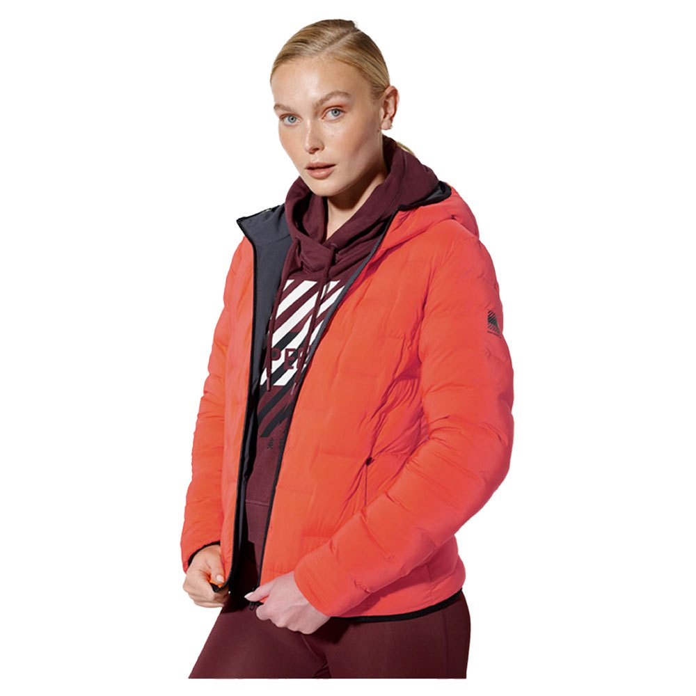 Superdry Reversible Puffer S Neon Red