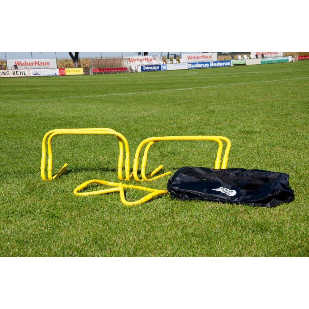 Powershot Adjustable Hurdle 5 Units 23-30 cm Yellow
