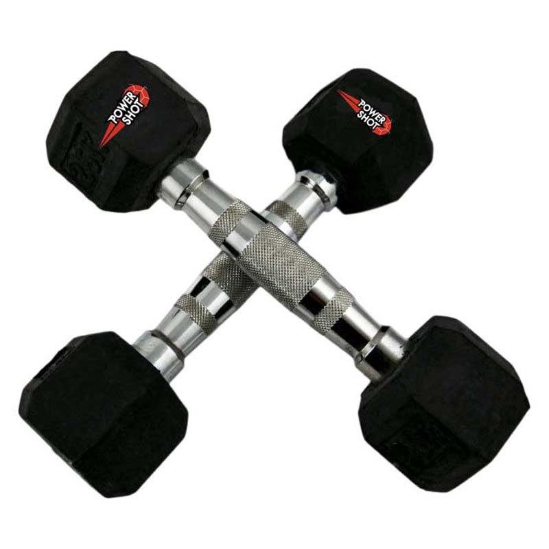 Powershot Hex Dumbbell 5kg 5 kg Black / Chrome