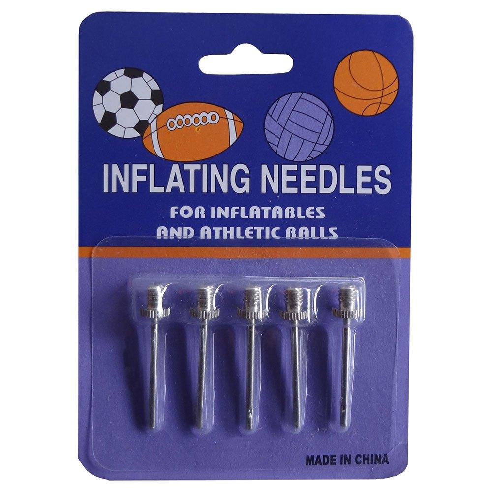Powershot Inflating Needle 5 Units One Size Chrome