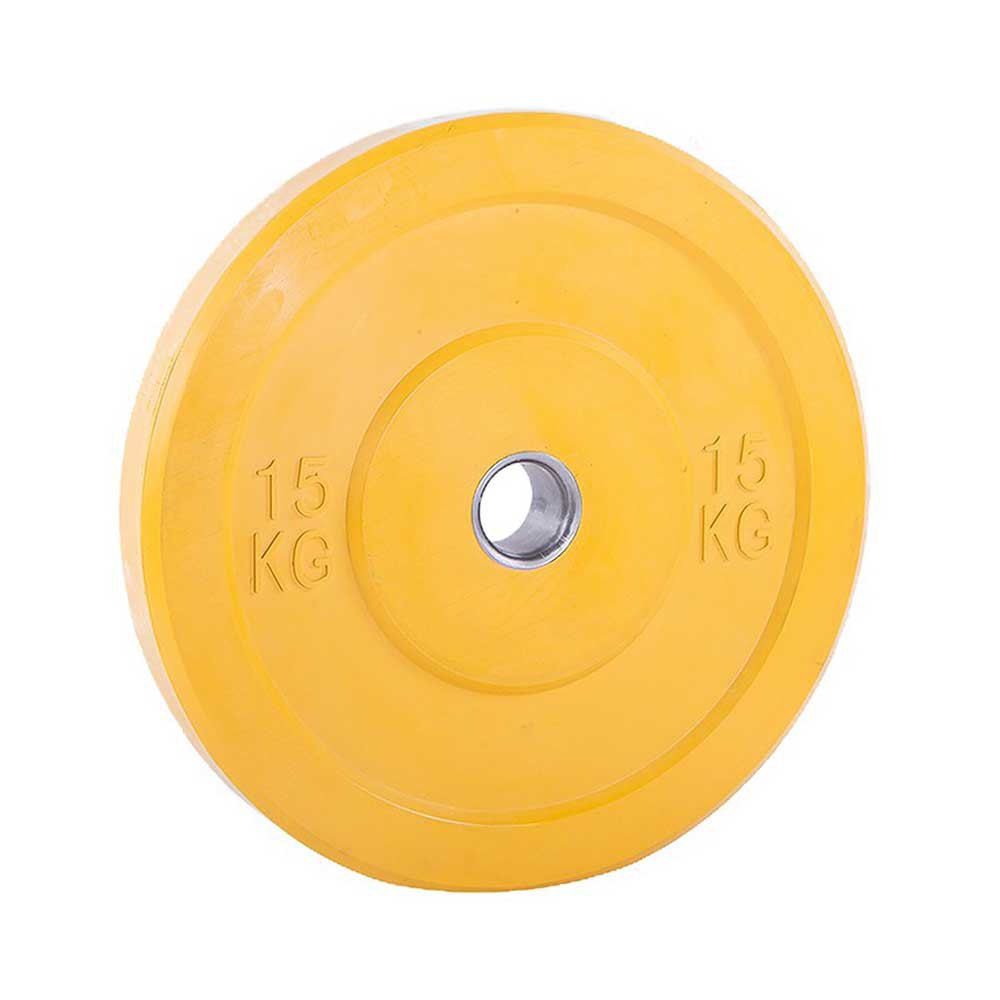 Softee Bumper Plate 15 Kg 15 kg Yellow