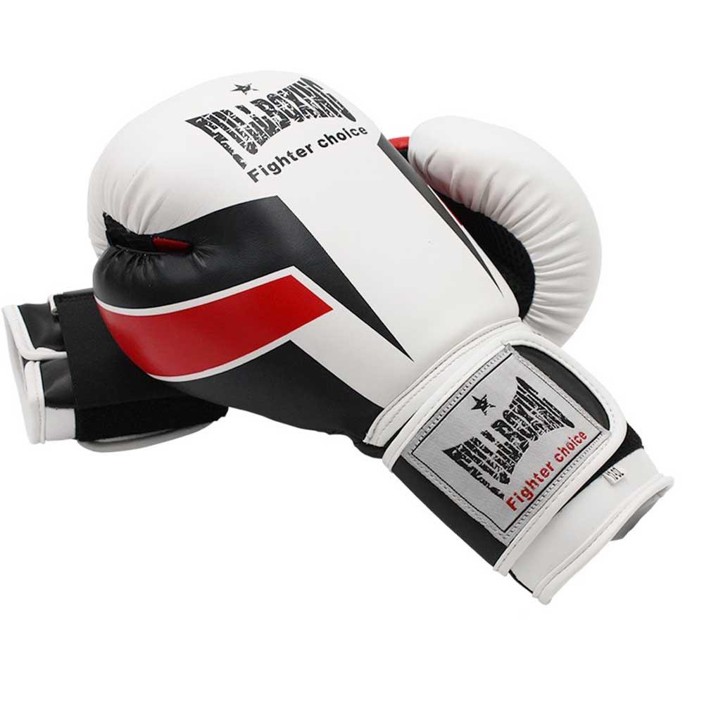 Softee Gants Combat Tremblent De Terre 10 Oz White / Red / Black