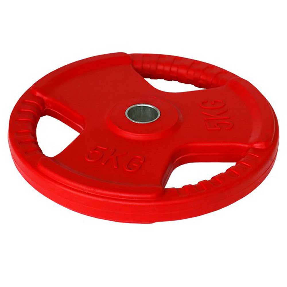 Softee Rubber Plates With Handle 25 Kg Red