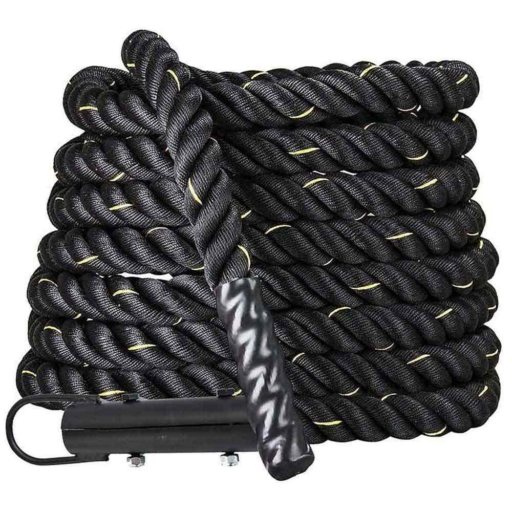 Softee Functional Battle Rope With Hook 12 m Black